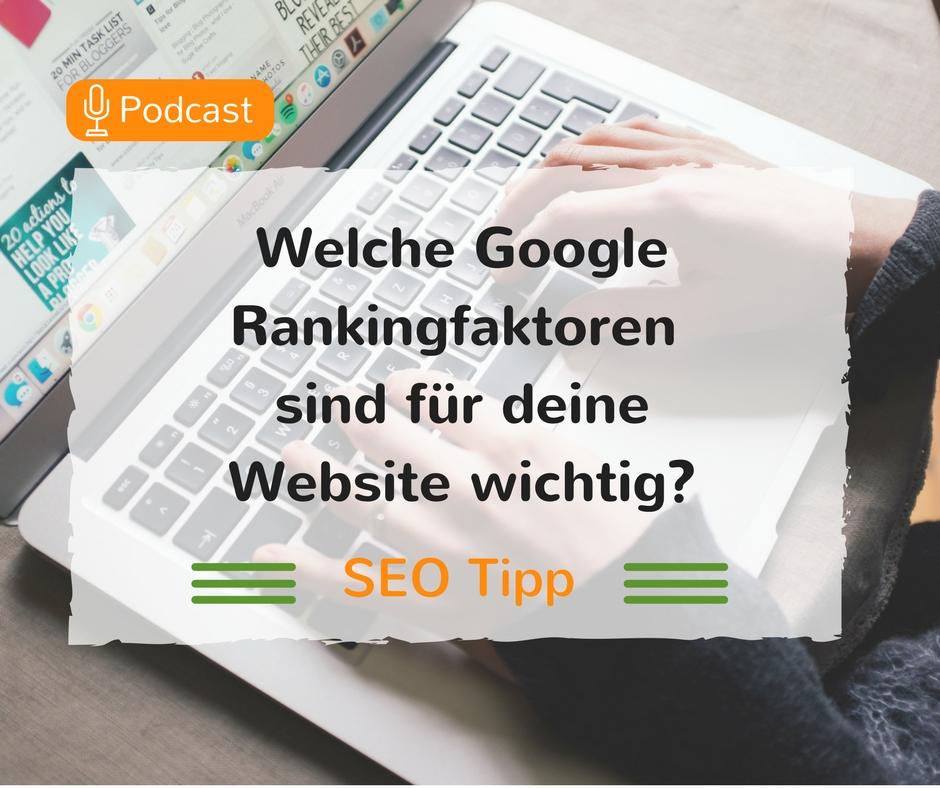 Welche Google Rankingfaktoren sind für deine Website wichtig- (1)