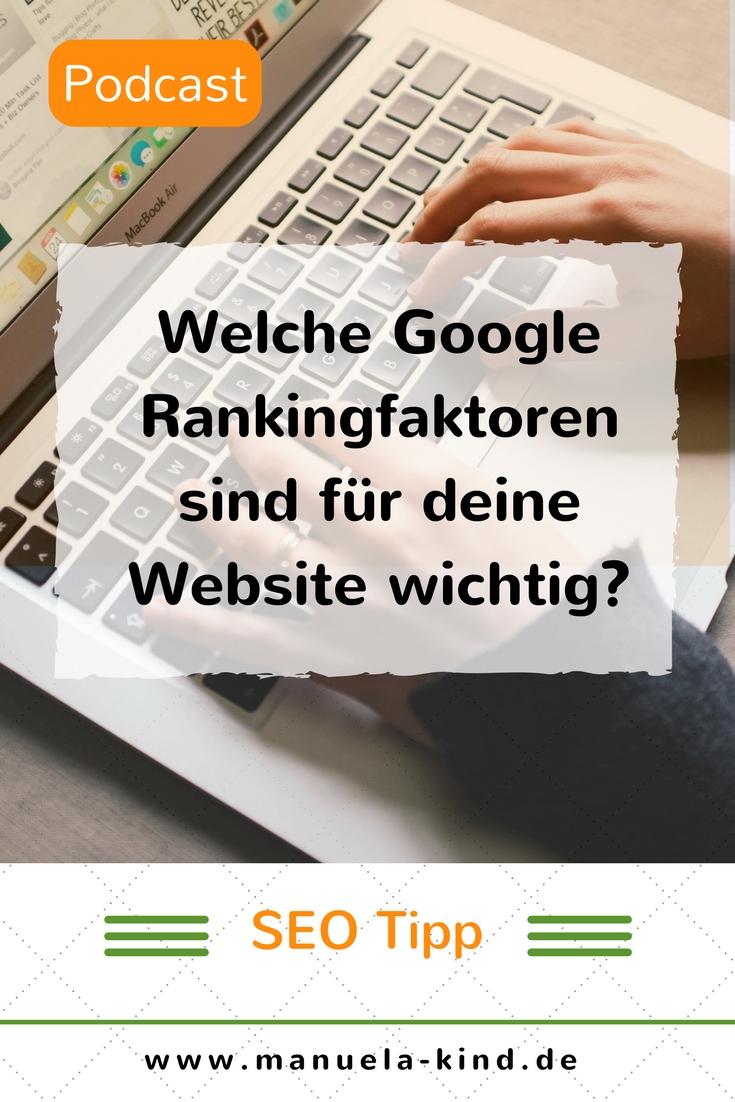 Wie bewertet Google die Website?