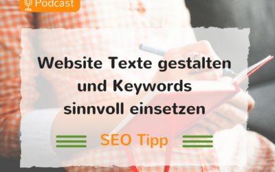 Wie du SEO Texte gestaltest und deine Keywords richtig einsetzt. – Podcast