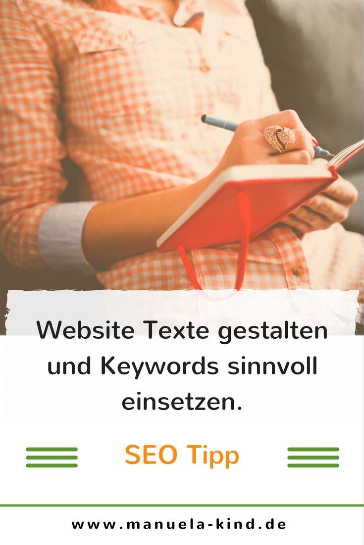 Webtexte gestalten und keywords sinnvoll einsetzen.