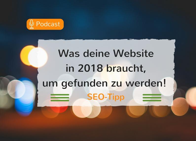 Was wird 2018 für deine Website wichtig