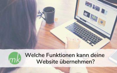 Welche Funktionen kann deine Website übernehmen?