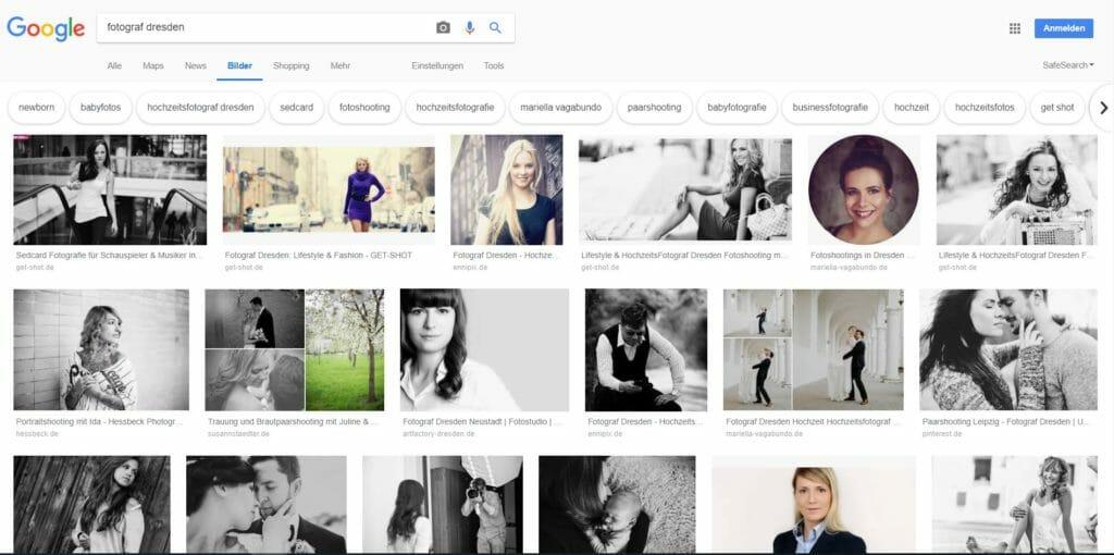 Beispiel für eine Google Bilder Suche