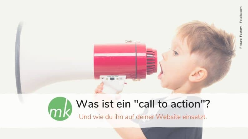 Was ist ein call to action?