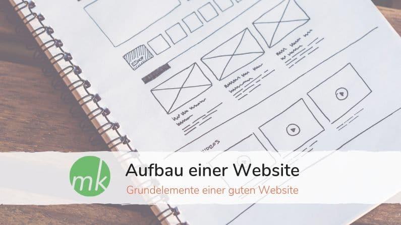 Elemente einer Website