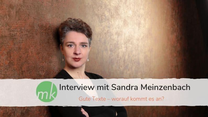 Gute Texte - Interview mit Sandra Meinzenbach